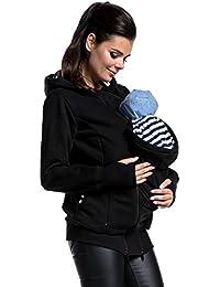 Zeta Ville - Sudadera apertura de embarazada panel extraíble - para mujer - 430c