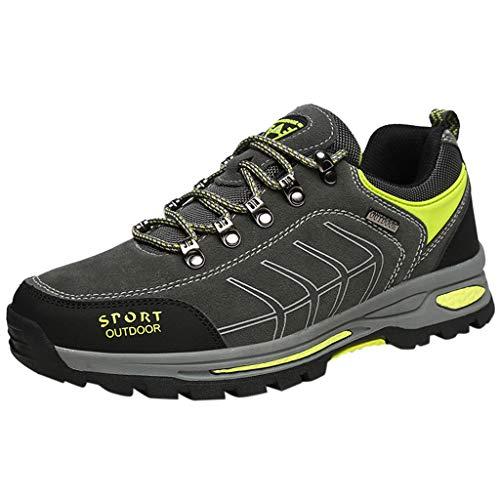 Briskorry Herren Sneaker Große Größe Draussen Wanderschuhe Wasserdicht Rutschfest Atmungsaktiv Turnschuhe Sportschuhe Outdoorschuhe Laufschuhe Jogger Schuhe