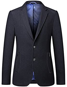 Linyuan Mens Senior Fabrics Formal Long Sleeve Slim Fit Two Button Blazer Dinner Suit