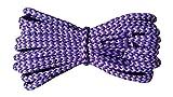 Schnürsenkel - Rund 4mm - Violett und Lila- Starke Schnürsenkel für Arbeit und Freizeit - Längen 110 cm - hergestellt in England