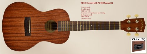 Kala Makala Concerto Ukulele con pick-up, con tasche