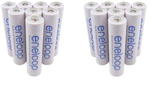 Galleria fotografica 4x 4 blister Sanyo eneloop HR-4UTGB 4BP batteria AAA