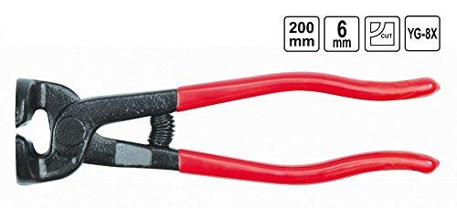 Glasurzange Brechzange Fliesenzange Mosaikzange Kneifzange 200mm Schneidenform: Rund