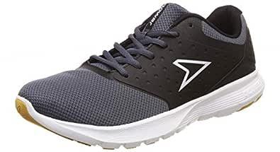 Power Men's Wave Motion Black and D.Grey Running Shoes-7 UK (41 EU) (8086096)