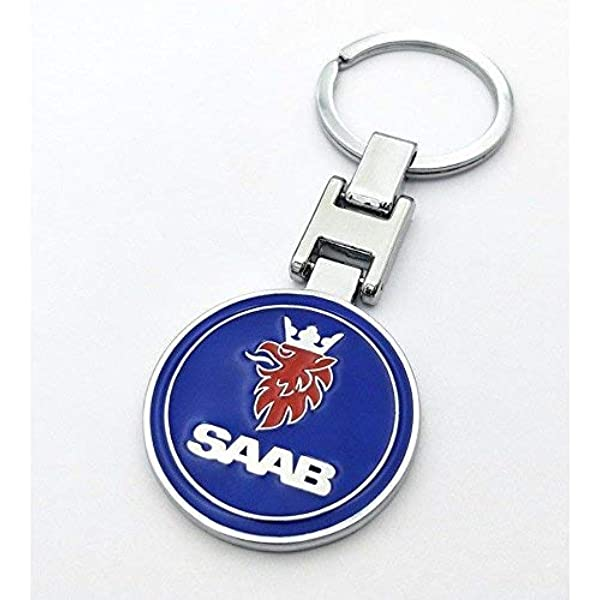 -A001 Complete with Gift Box Choice of Design T20 DESIGNS SAAB CAR LOGO METAL KEYRING