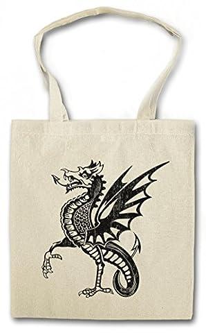 DRAGON IV Réutilisable Pochette Sac De Courses en Coton Hipster Reusable Shopping Bag
