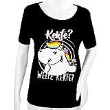 Pummel & Friends - T-Shirt Loungewear (schwarz) - Pummeleinhorn (Kekfe) Größe M