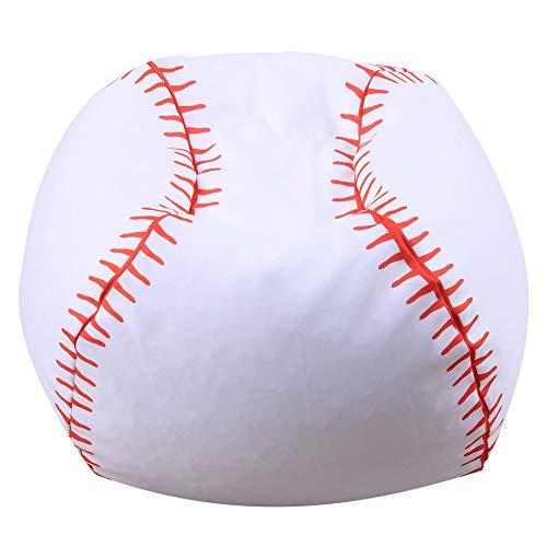 Softneco Kinder gefüllt Tier plüsch Spielzeug lagerung sitzsack, Kugel geformt Leinwand Abdeckung Spielzeug-Storage-lösung Für Decken Kissen Handtücher-Baseball 97 x 97 x 97cm (Baseball-decke)