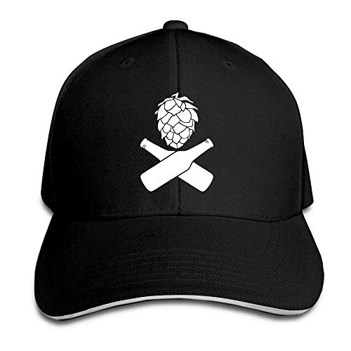 Hops Beer Bottles Adult Baseball Cap Sandwich Cap Adjustable Peak Cap