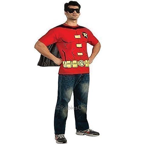 Costume Robin Rouge - Rubies Robin T Shirt Haut Déguisement -