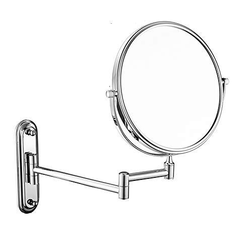 Wig girl Espejo de Afeitado del baño 10 Veces Lupa + Espejo de tocador Redondo de Doble Cara Ordinario...