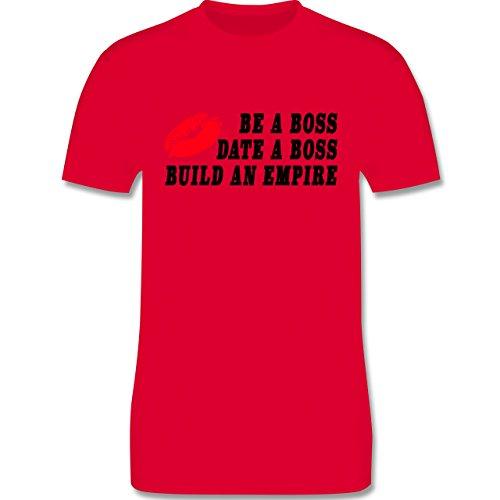 Statement Shirts - KISS - BE A BOSS - DATE A BOSS - BUILD AN EMPIRE - Herren Premium T-Shirt Rot