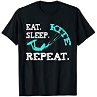 Kiteboarding Kite Kiten Design Eat Sleep Kite Kitesurfen T-Shirt