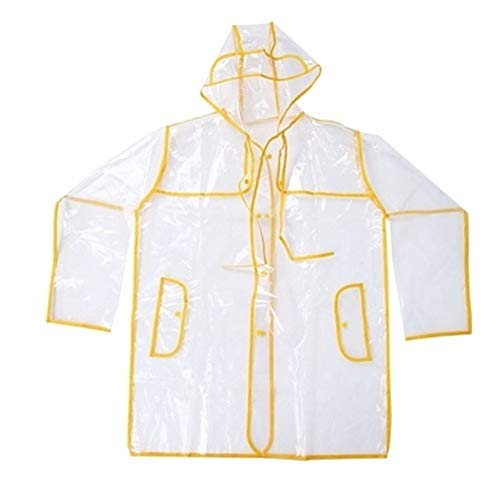 YUELANG Transparent Rain Coat Outdoor Travel Men Women Unisex Rainsuit Waterproof Windbreaker Vinyl Waterproof Raincoat