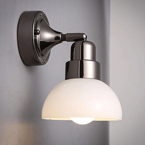 GAODUZI Moderne Minimaliste Invité Restaurant Chambre Chevet Applique Nordique Personnalité Créative Escalier Fer Mur Lampe E27 (Couleur : Blanc)