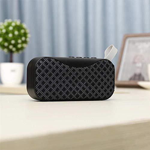 YSCYLY Mini Bluetooth Lautsprecher Tragbare Drahtlose Lautsprecher Sound System Freisprecheinrichtung Unterstützung Bluetooth TF AUX USB Eingebautes Mikrofon,Black