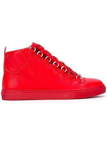 balenciaga-mujer-433296wayn06312-rojo-cuero-zapatillas-altas