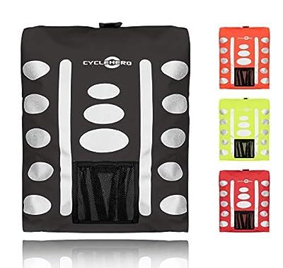 Regenschutz Rucksack (verschiedene Größen/Farben) Rucksack Überzug mit reflektierenden Elementen und Extra-Tasche - Wasserdichtes Regen Cover für viele Rucksack Größen (15L, 25L, 35L, 45L, 55L)