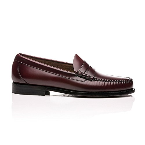 uns Larson Penny Loafers Wine Leather - 11 ()