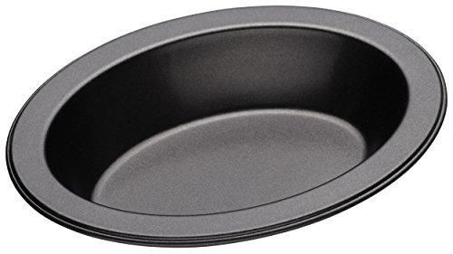 Master Class Kleine ovale Antihaft-Auflaufform für Einzelportionen, Stahl, Grau, 13.5 cm Ovale Pie Pan