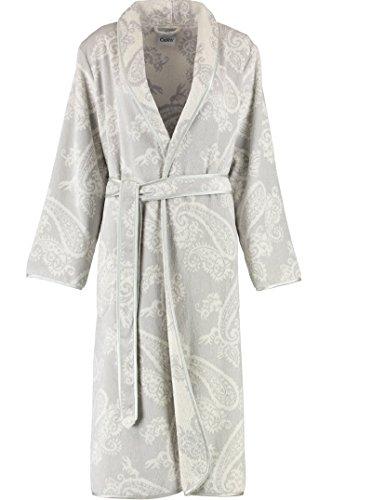 Cawö-Accappatoio da donna in velluto Paisley 4420, 100% cotone, Grau, Medium