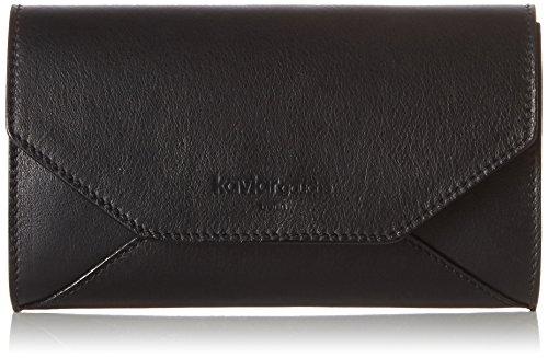 kaviar gauche Envelope Clutch classic w. chain, Sacs bandoulière Noir - Schwarz (black/silver)