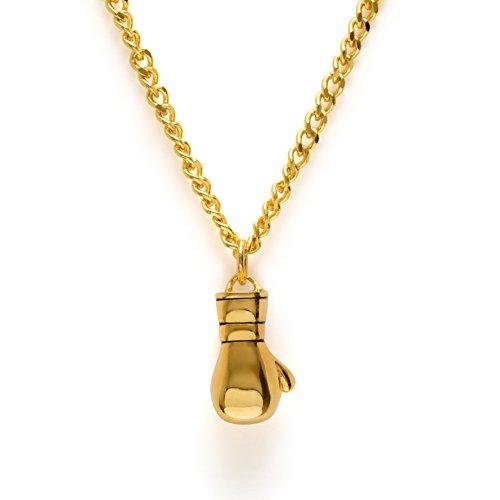 Gold Boxhandschuhe Halskette Boxen Anhänger Fitness Gym Jewelry Muay Thai -
