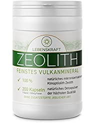 Lebenskraft Zeolith Kapseln 200 Stück, Klinoptilolith aus europäischem Vulkangestein ultrafein, mikronisiert und aktiviert
