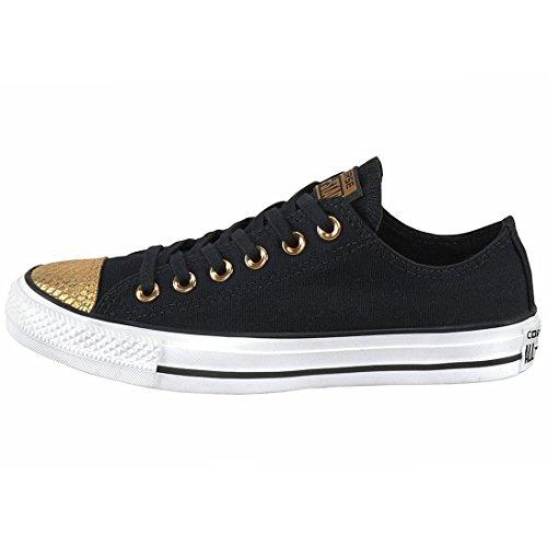 Converse Damen All Star Metallic Toecap Sneaker Black/Gold/White