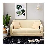 VGUYFUYH Slipcover Einfaches Sofa Komplettpaket 123 Kombination Leder Sofakissen, D Samt Sofa Bezug Grau Gl, Anwendung Von DREI Personen 190-230Cm