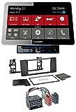 caraudio24 Blaupunkt Rome 990 DAB DVD MP3 Bluetooth DAB 2DIN USB Autoradio für BMW 5er (E39) X5 Rundpin