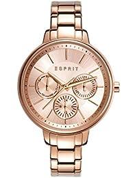 Espirit Melanie - Reloj analógico con correa de acero inoxidable para mujer, color oro rosa