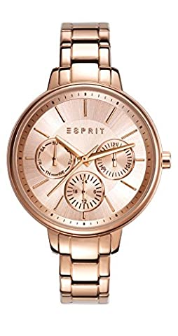Esprit Damen-Armbanduhr Melanie Analog Quarz Edelstahl beschichtet ES108152003 (Esprit Schmuck Outlet)