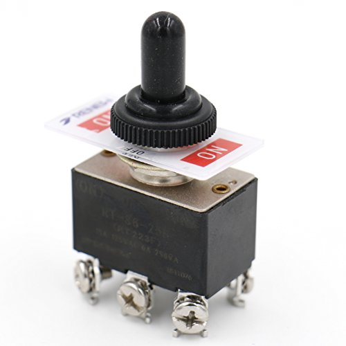 heschen Metall Toggle Switch rt223F DPDT Momentary (On)/Off/(On) 3Position 6A 250VAC mit wasserfester Abdeckung CE