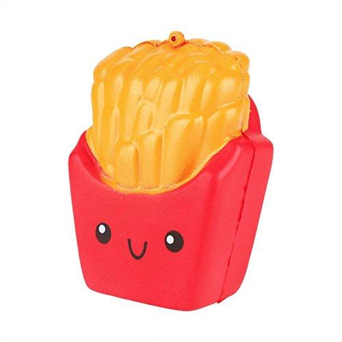 (Zerodis PU Squeeze Toys Slow Rising Squishy Pommes Frites Weiche Druckentlastung Spielzeug Dekoration Geschenk Kinder Erwachsene(Rot))
