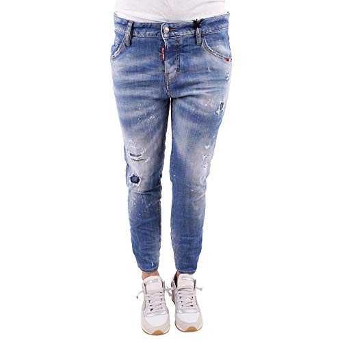 dsquared damen jeans DSQUARED Jeans Cool Girl Cropped S75LB0033 Light Blue Size:38