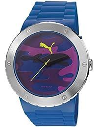 Puma  Blast L - Reloj de cuarzo para hombre, con correa de resina, color azul
