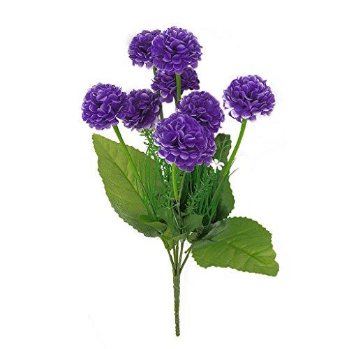 Jooks Kunstblumen Künstliche Seide Gefälschte Blumen Fake Blumen Hochzeit Bouquet Braut Hydrangea Dekor Wohnaccessoires Deko Lila