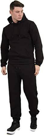 Aarhon® Mens Pullover Basic Tracksuit Mens Tracktop and Bottom Set Fleece Suit Sizes UK S - 2XL