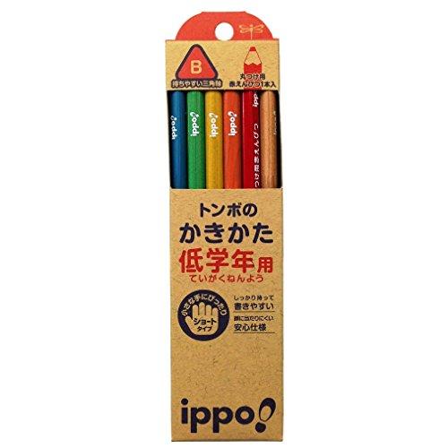 トンボ鉛筆 鉛筆 ippo! 低学年用かきかた B 三角軸 MP-SENN03-B ナチュラル