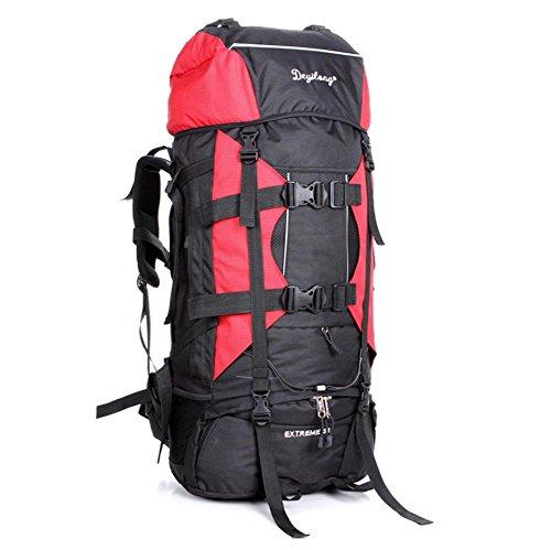 SZH&BEIB Wanderrucksack Extra Large Kapazität 80L für Outdoor-Reisen Bergsteigen Tasche wasserdicht Nylon F