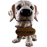 Resina Macchiato Cane Dalmata Porta Modello Decorazione Di Benvenuto Animale