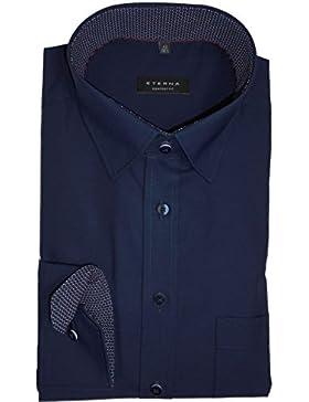 ETERNA Comfort Fit Hemd super langer Arm Chambray nachtblau AL 72