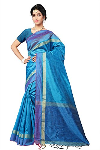 Indian Fashionista Silk Saree With Blouse Piece (Nrpt1168C_Blue_Free Size)