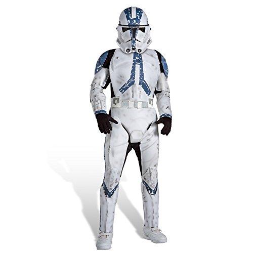 Trooper Clone Kostüme (Kinder Kostüm Clone Trooper Deluxe, M)
