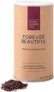 Your Superfoods Forever Beautiful Superfood - Veganes Anti-Aging für strahlende Haut, natürliches Kollagen, Bi