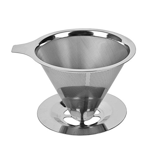 dingchen Edelstahl Kaffee Tropfer, wiederverwendbar Fresh Kaffee gebraut Filter, Kaffee über POUR Membran