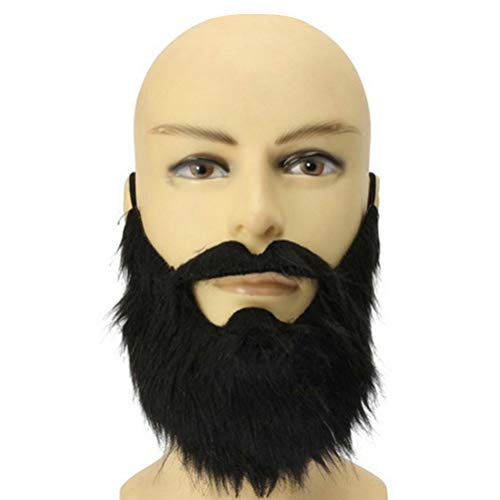 Kostüm Beard Piraten Black - EqWong Halloween Schnurrbart,Halloween Mustaches lustige Kostüm Schnurrbart Halloween Party Prom Requisiten Piraten Party Dekoration