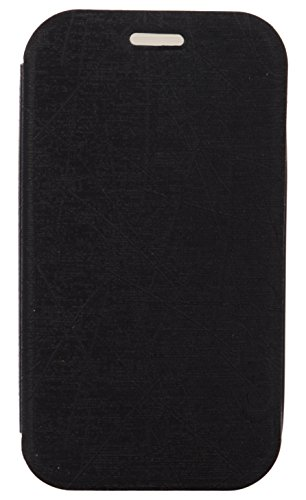 iCandy Soft TPU Non Slip Back Shell PU Leather Hybrid Flip Cover for Samsung Galaxy Star Pro S7262 - BLACK  available at amazon for Rs.99