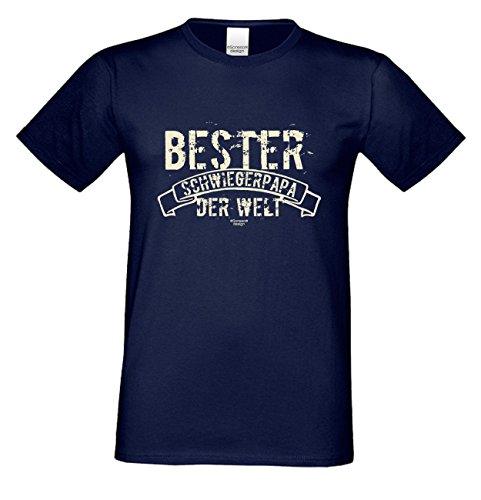 Fun-T-Shirt für Vater als tolle Geschenke-Idee Motiv: Bester Schwiegerpapa der Welt Farbe: braun Braun